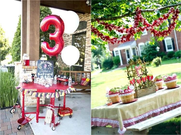 Idee decoration jardin anniversaire