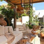 Décoration jardin extérieur en bois