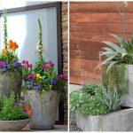 Décoration jardin ciment