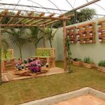 Decoration jardin palette de bois
