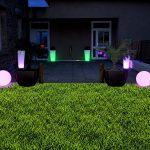 Boule lumineuse decoration jardin