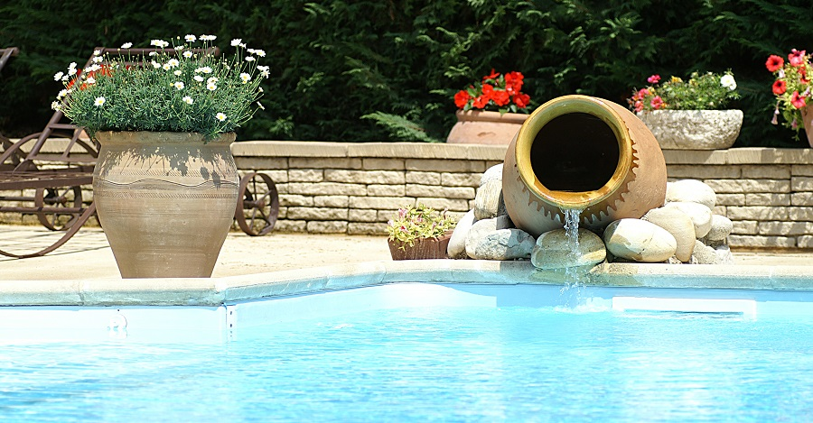 Decoration de piscine jardin