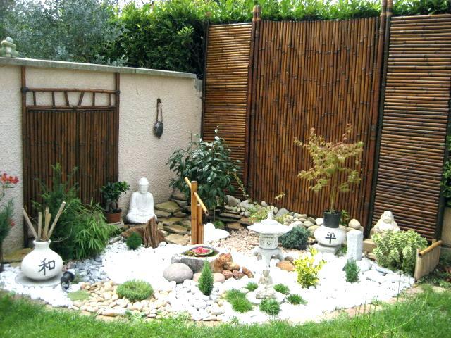 Décoration pour un jardin zen