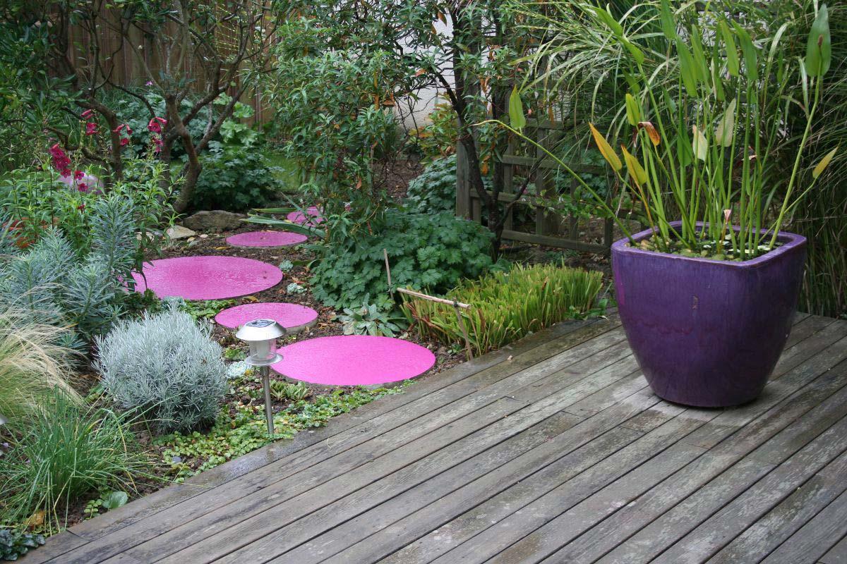 Decoration jardin couleur