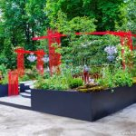 Décoration béton jardin