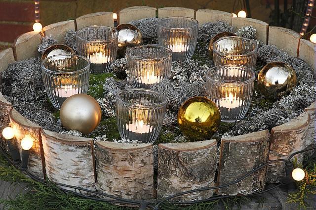 Decoration de noel jardin hamel