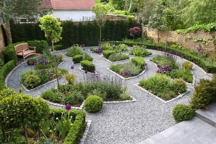 Jardin decoration gravier