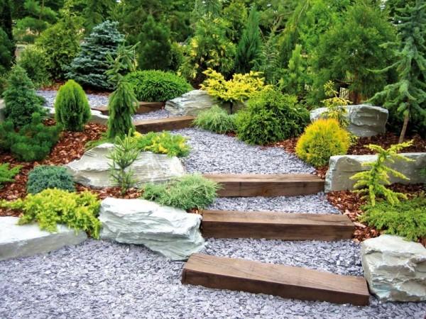 Décoration d'un jardin paysager