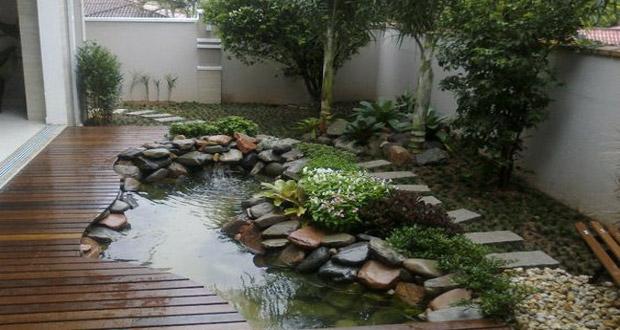 Décoration jardin et bassin - Design en image