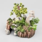Décoration miniature jardin