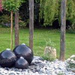Decoration jardin piquet ardoise
