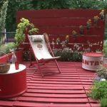 Decoration jardin avec de la récupération