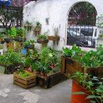 Décoration de jardin récup