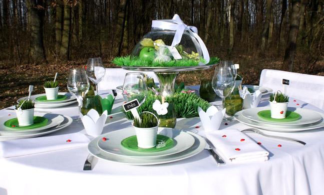 Décoration table thème jardin - Design en image