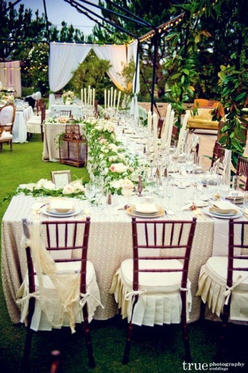 Decoration de jardin pour un mariage