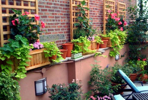 Decoration mur bois jardin