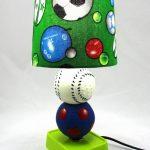 Lampe de chevet ballon de football