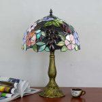 Lampe de chevet en verre coloré