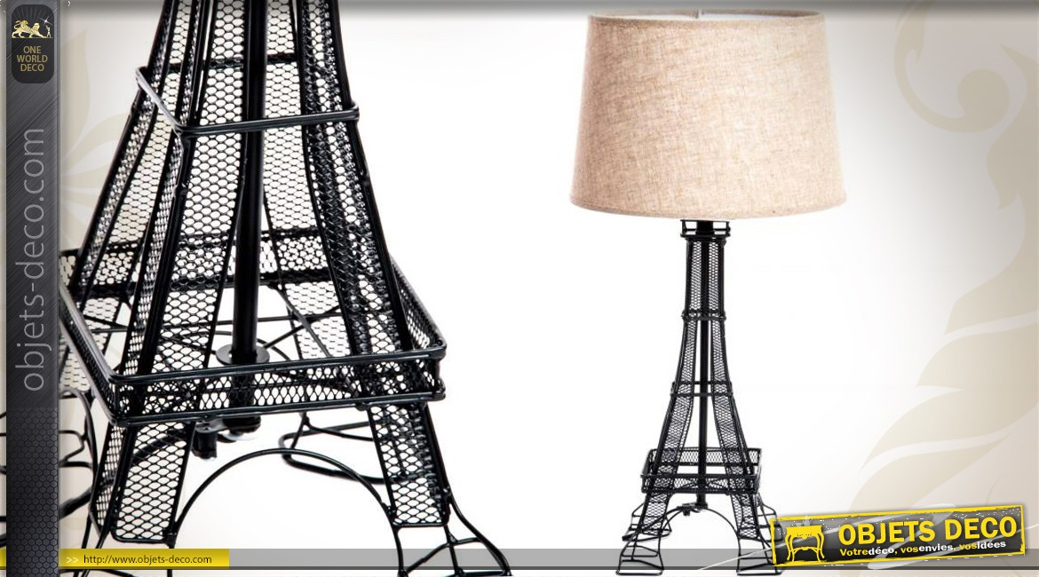 Lampe design tour eiffel