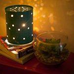 Lampe de chevet boite de conserve