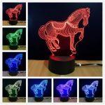Lampe de chevet avec cheval