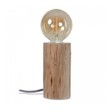Lampe de chevet nature bois