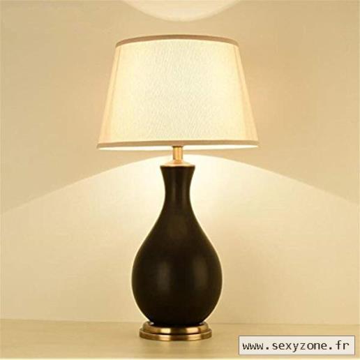 Lampe de chevet avec bouton poussoir