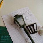 Lampadaire miniature de noel