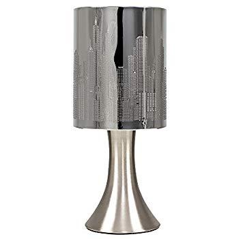 Lampe électrique de chevet en métal chromé