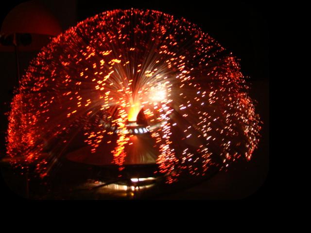 Lampe design fibre optique