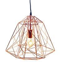 Inthehouse rétro lustre lampe suspension industriel edison style cage design géométrique