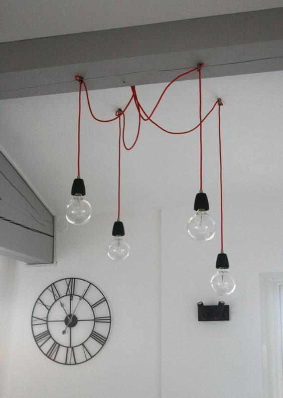 Lampe design plusieurs ampoules