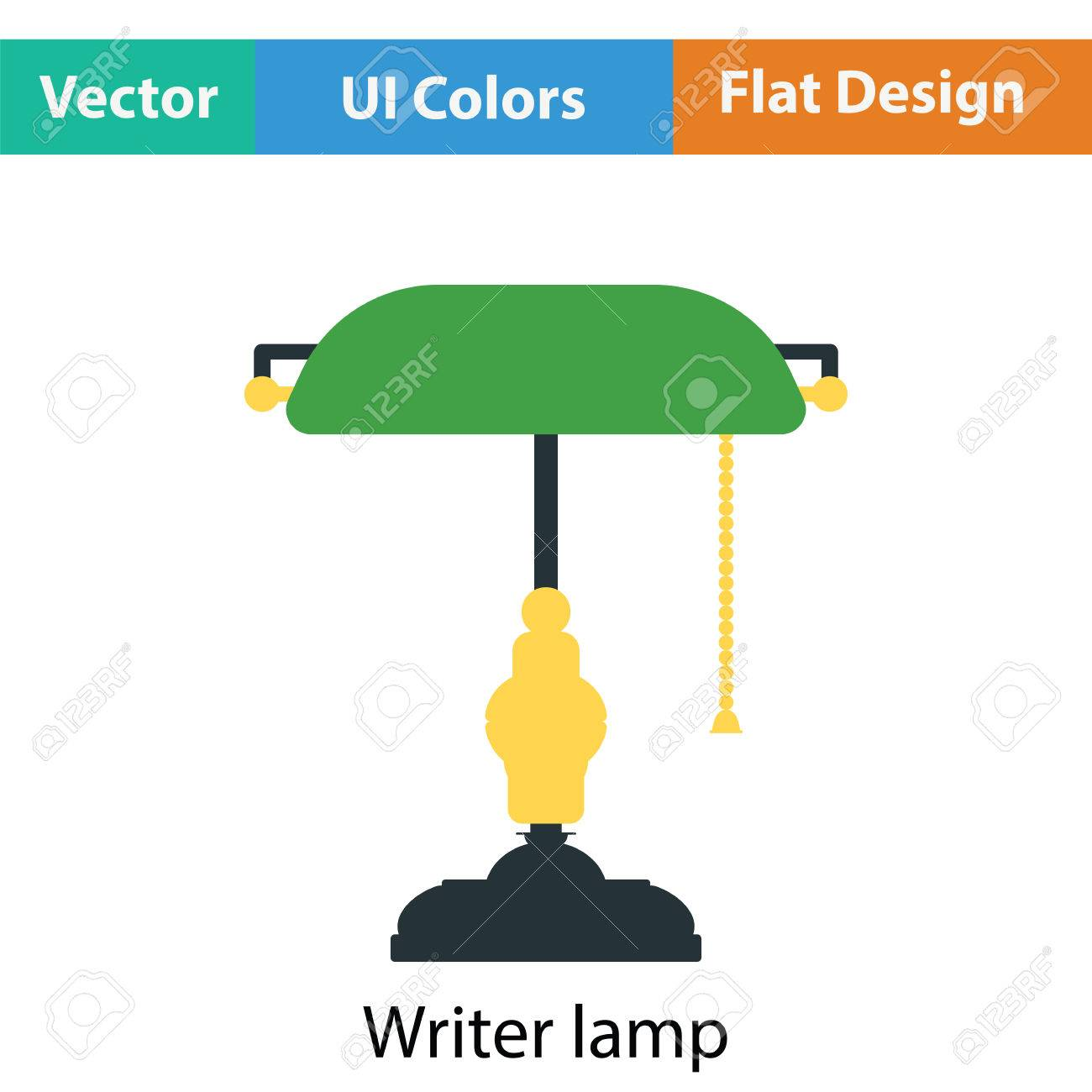 Flat design lampe