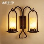 Lampe de chevet style chantier