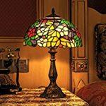 Lampe de chevet vitraux