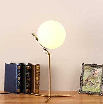 Lampe de chevet globe en verre