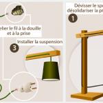 Kit électrique lampe de chevet