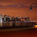 Lampadaire ville nuit