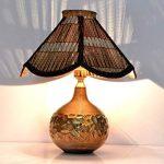 Abat jour bambou pour lampe de chevet
