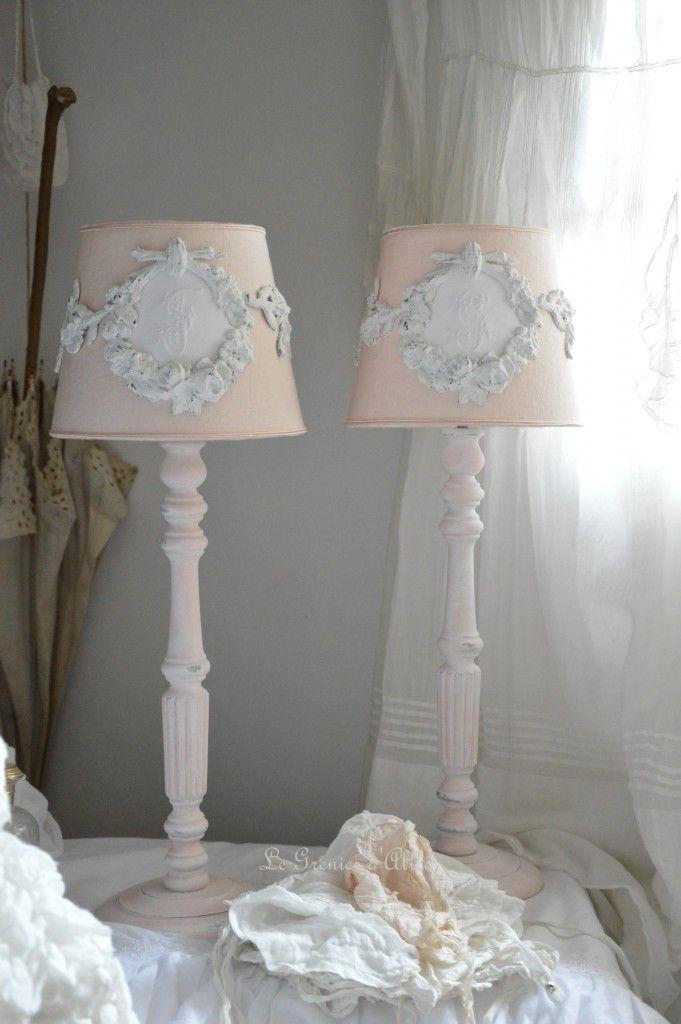 Abat jour lampe de chevet romantique