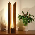Lampe a poser bois design