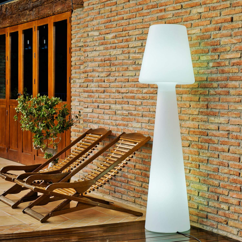 Lampadaire extérieur en polyéthylène blanc lola 200 cm
