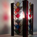 Lampe vitrail design