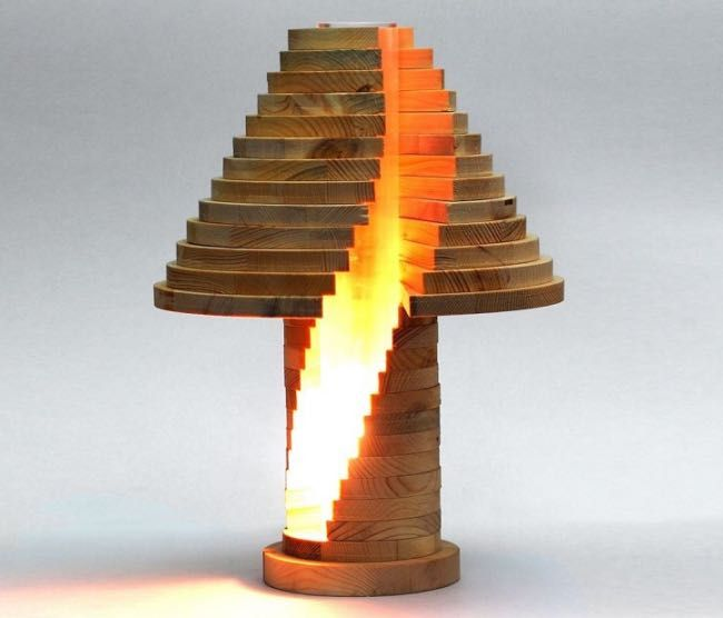Lampe bois design modulable