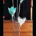 Lampe design turquoise
