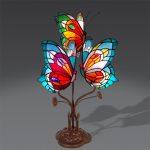 Lampe de chevet abat jour papillon