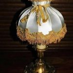 Ancienne lampe de chevet bronze