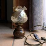 Lampe de chevet bois ancien