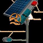 Lampadaire solaire eclairage public