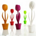 Lampadaire forme tulipe